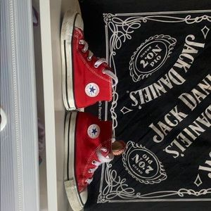 Used size 8 high top red chuck taylors